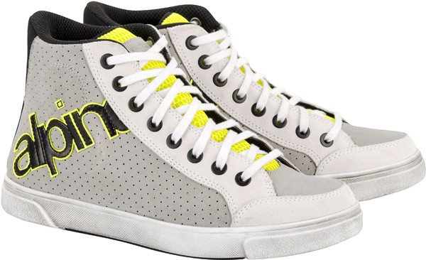 JOEY PERFORATED SUEDE SHOE WHITE GRAY FLUO Alpinestars