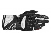 ALPINESTARS SP-8 LEATHER GLOVE BLACK WHITE