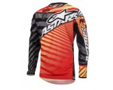 ALPINESTARS RACER BRAAP JERSEY RED CHARCOAL YELLOW FLUO