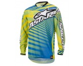 ALPINESTARS RACER BRAAP JERSEY YELLOW BLUE LIME