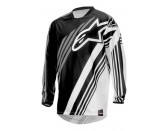 ALPINESTARS RACER SUPERMATIC JERSEY BLACK WHITE GRAY